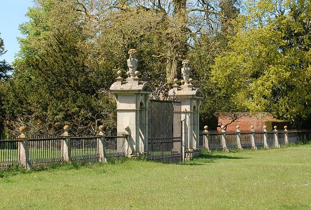 Gate piers, Euston Hall, Suffolk