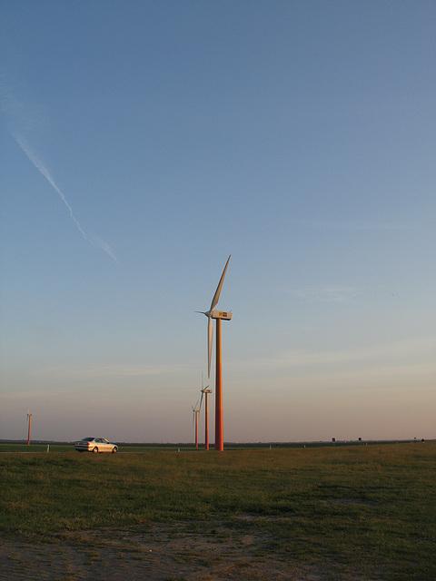 Windmills At Sunset.2
