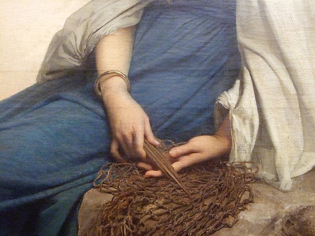 Detail of Graziella by Jules-Joseph Lefebvre in the Metropolitan Museum of Art, May 2009