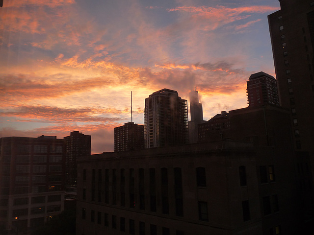 skies over Chicago