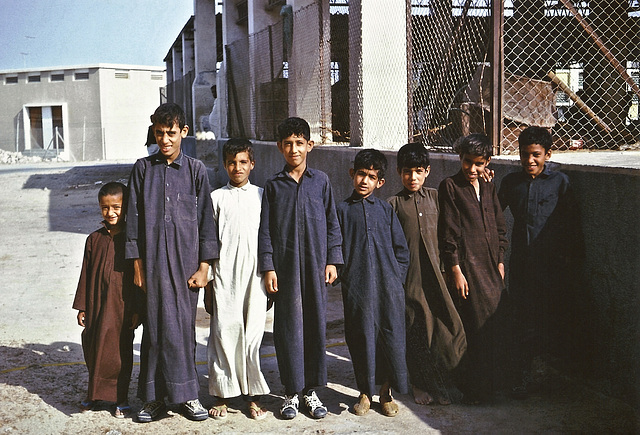 Qatari children, Doha, 17 Feb 1967