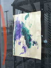 A child's feathers & paint idea.