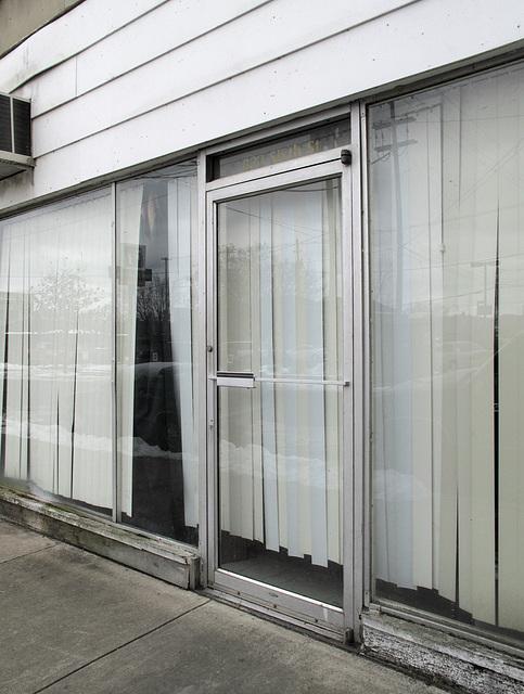 Vertical blinds idea for storefront.