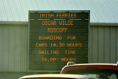 Rosslare 2013 – Ferry to France named after Oscar Wilde