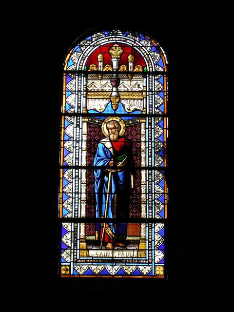 SAINT-PAUL: Vitrail de St-Paul.