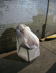 Philadelphian eveningtime sack of chair.