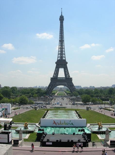 PARIS: La tour Eiffel depuis le Trocadéro.