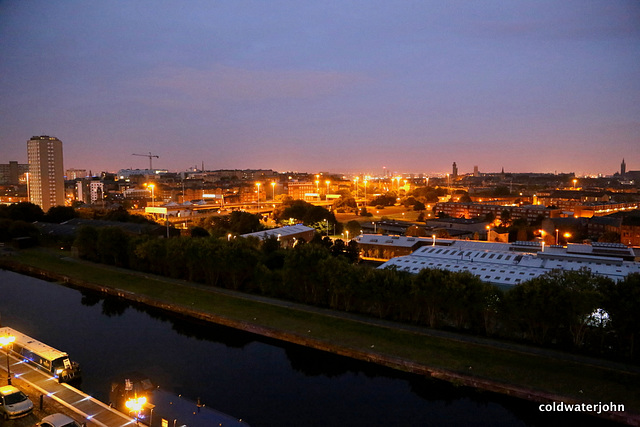 Glasgow City Skyline, pre-dawn