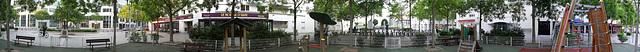ISSY LES MOULINEAUX: Panoramique 360° de la place Jacques Madaule.