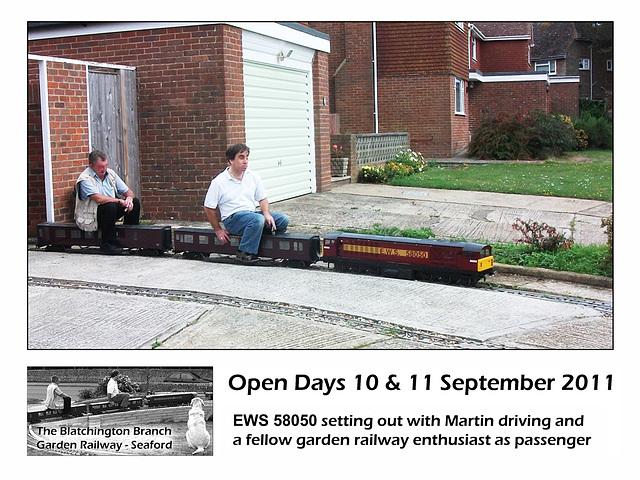 Blatchington Garden Railway EWS 58050 on train