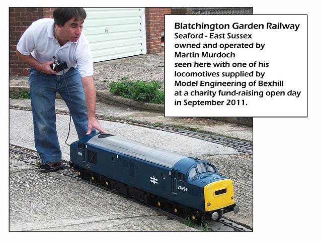 Blatchington Garden Railway Martin with 37694  10 9 2011