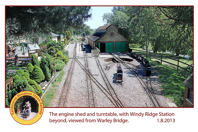 Eastbourne Miniature Steam Railway Engine shed 1 8 2013