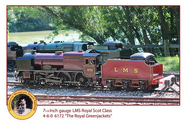 Eastbourne Miniature Steam Railway LMS 6172 Royal Greenjackets 460 1 8 2013