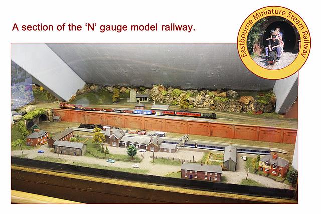 Eastbourne Miniature Steam Railway N gauge model railway 1 8 2013