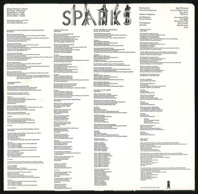 SPARKS - Kimono Lyrics