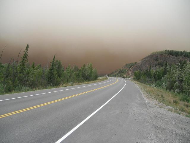 wall of smoke ahead