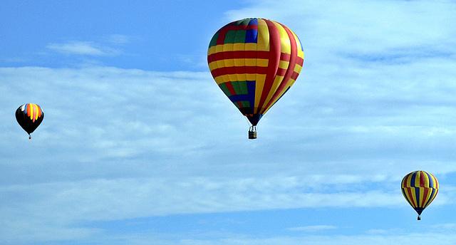 Hot Air Balloons Over Albuquerque, NM