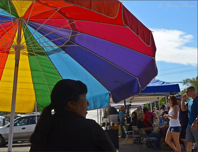 Shade From The Hot Sun  (Corrales Farmer's Market)