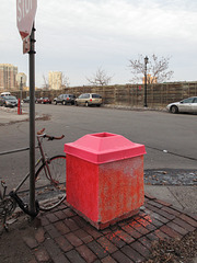 Somebody did a project on one of the Minneapolis civic trashcans.