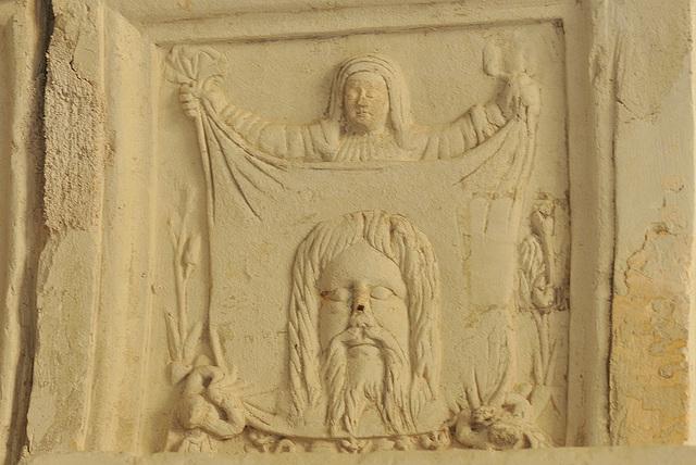 Sculptures de la salle capitulaire (XVIe s.) de l'abbaye de Fontevraud
