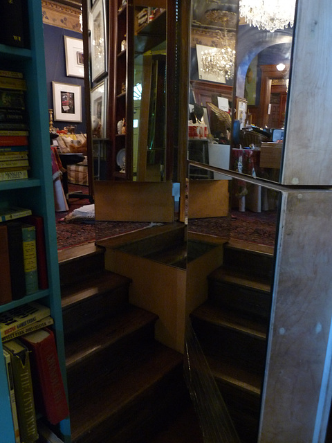 one of the many secret doorways and passages