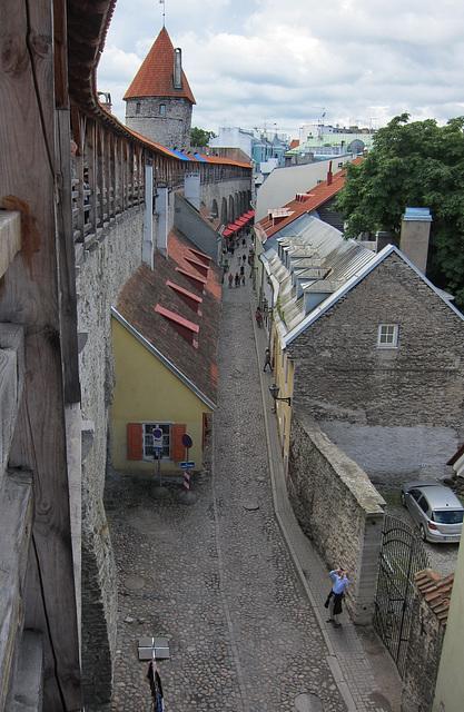 view to Müürivahe and Viru Door in Tallinn