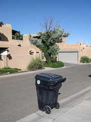 Another perfect trashday in Albuquerque land of enchantment.