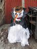 A folk art!  South Minneapolis cottony material snowman.