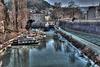 BESANCON: Le moulin Saint-Paul, le canal sous les glace.
