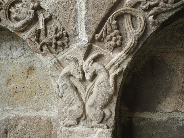 Eglise de Salers : détail.