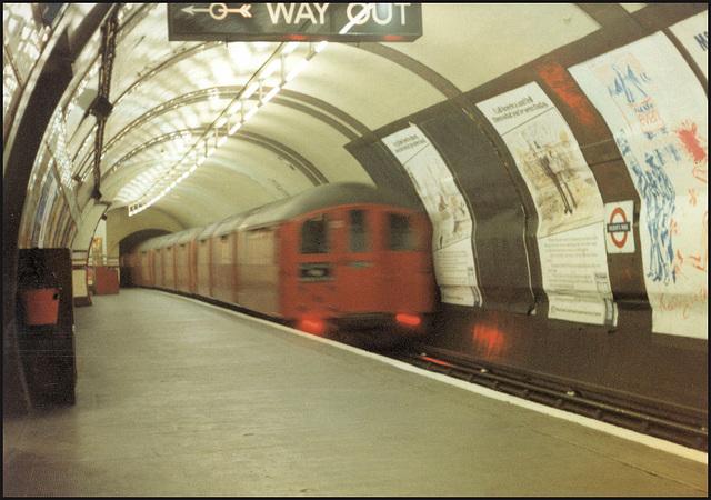 old red underground train