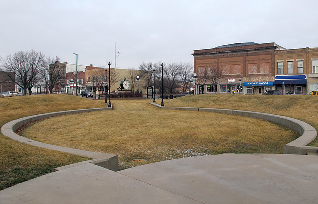 Land use idea for this late-December day in the center of this small town in Iowa.