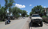 "In Madrid, New Mexico, unmistakable ""general view"" of main drag."