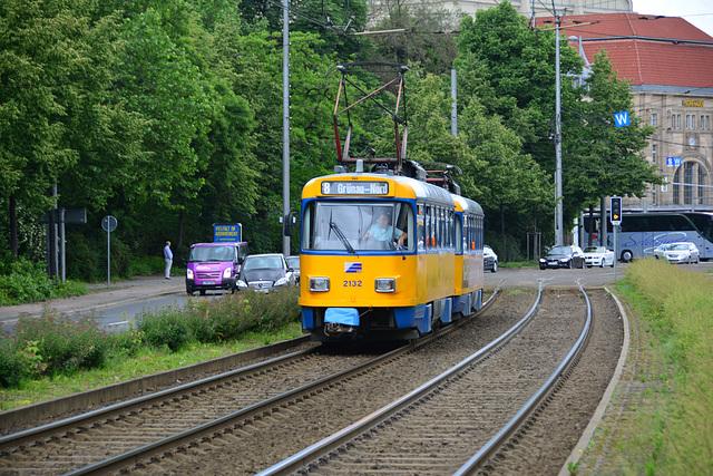 Leipzig 2013 – Tram 2132 on the way to Grünau-Nord