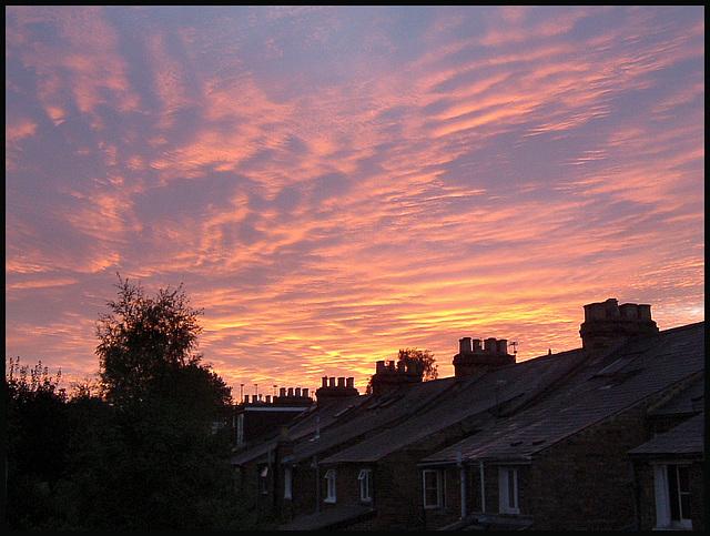 dawn sky in Jericho