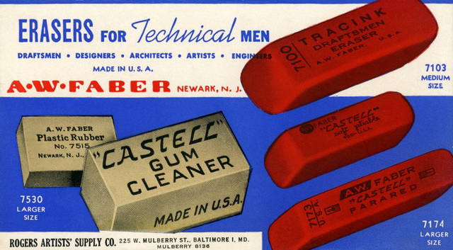 Erasers for Technical Men