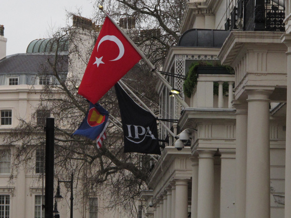 Flags in Belgrave Square