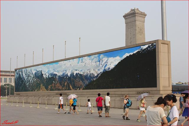 Place Tian'anmen coté montagne