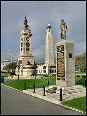 Plymouth war memorials