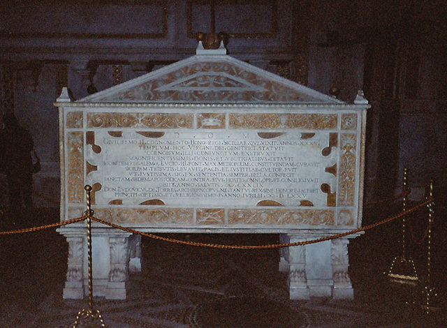 The Tomb of William II in the Duomo of Monreale, March 2005