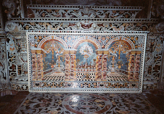 Inlaid Marble Altar in the Treasury inside the Cathredral of Monreale, March 2005