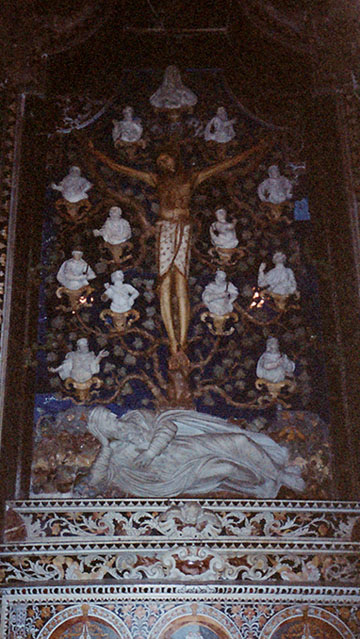 The Lapis Lazuli Altarpiece in the Treasury Chapel of the Duomo in Monreale, March 2005