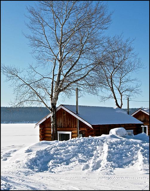 Campsite at Lac La Hache, BC
