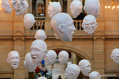 Floating Heads in Kelvingrove