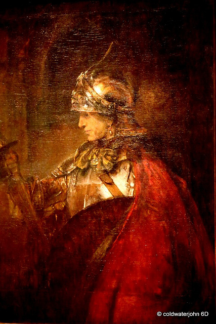 "Rembrandt's Man in Armour"" in Kelvingrove Gallery"