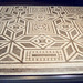 Black and White Geometric Mosaic in the Palazzo Massimo alle Terme Museum in Rome, Dec. 2003
