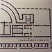 Villa Floor Plan in the Palazzo Massimo alle Terme Museum in Rome, Dec. 2003