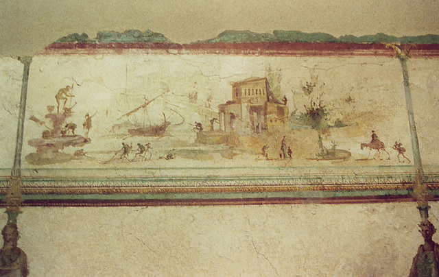 Wall Painting in the Palazzo Massimo alle Terme Museum in Rome, Dec. 2003