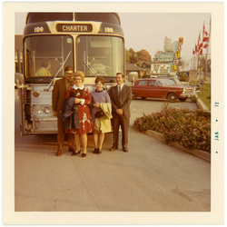 Departing by Bus from the Flying Dutchman Motel, 1971