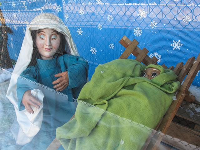 Mary & Jesus scene.